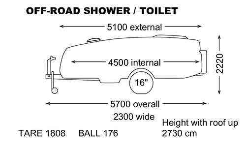 Off Road Shower Dimensions
